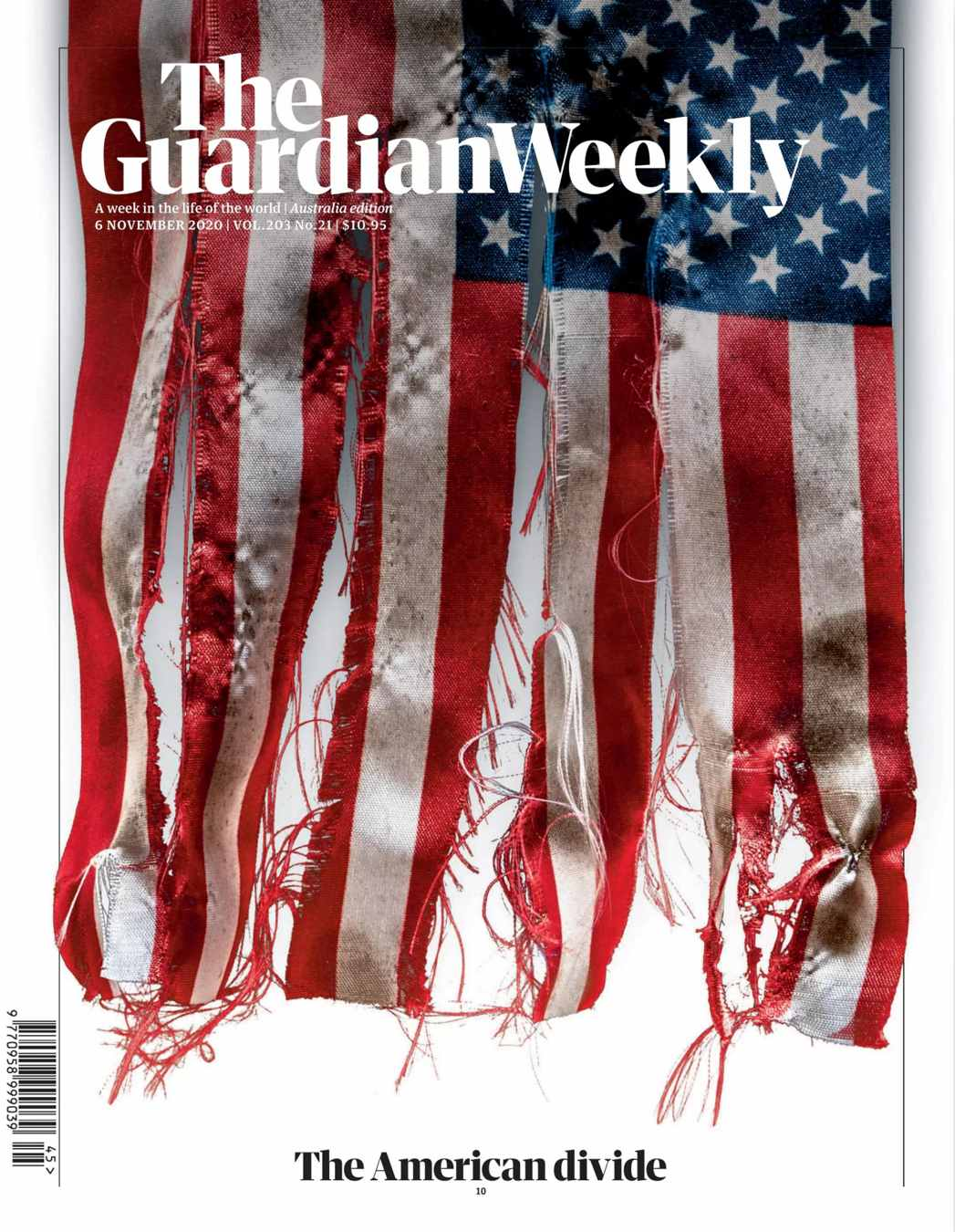 guardian weekly cover about US election