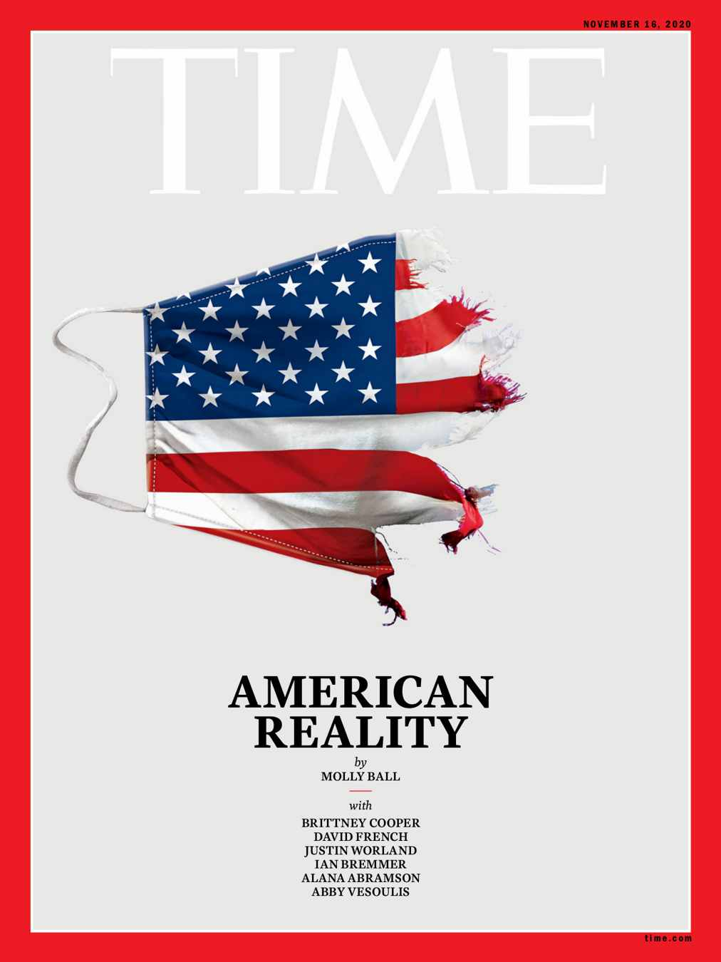 Time Magazine Cover about US 2020 election