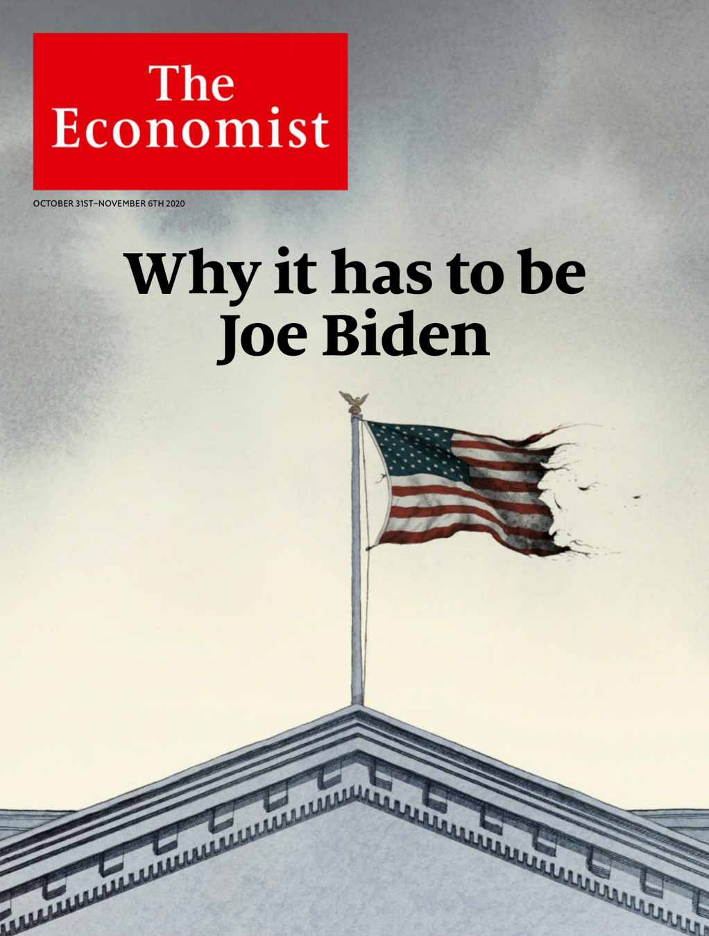 The Econoist Cover about US 2020 election